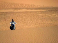 Riding the dunes in the Sahara, Niger