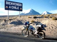 Crossing the Chile/Bolivia border at 15,000 feet above sea level
