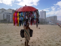 Bikini salesman on Ipanema Beach